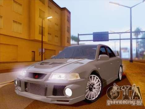 Mitsubishi Lancer Evolution VI LE для GTA San Andreas вид сзади