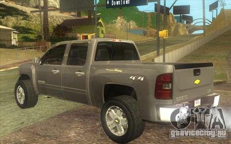 Chevrolet Cheyenne LT 2012 для GTA San Andreas вид слева