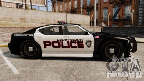 GTA V Bravado Buffalo Supercharged LCPD для GTA 4 вид слева
