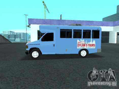 Ford Shuttle Bus для GTA San Andreas вид слева