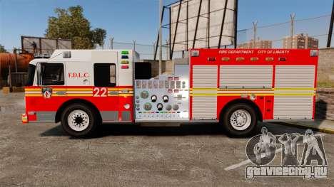 Firetruck FDLC [ELS] для GTA 4 вид слева