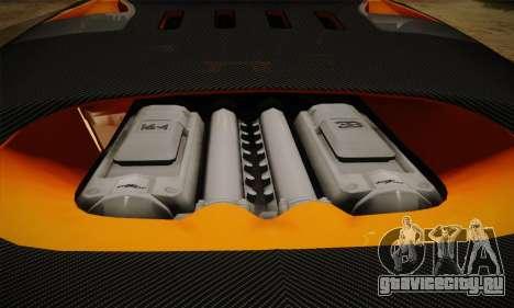 Bugatti Veyron Super Sport World Record Edition для GTA San Andreas вид сверху