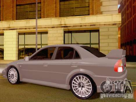 Mitsubishi Lancer Evolution VI LE для GTA San Andreas вид справа