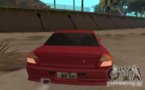Mitsubishi Lancer Evolution VI для GTA San Andreas вид слева