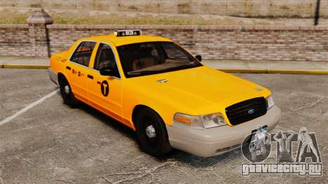 Ford Crown Victoria 1999 NYC Taxi для GTA 4 вид сбоку