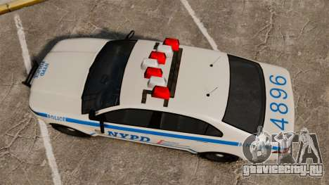 GTA V Police Vapid Interceptor NYPD для GTA 4 вид справа