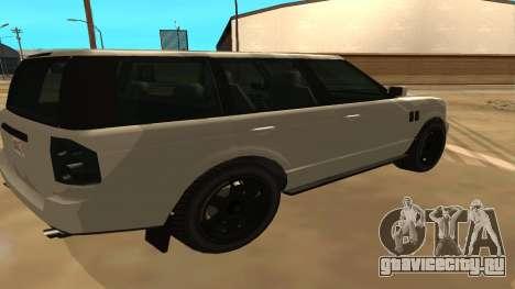 Baller GTA 5 для GTA San Andreas вид сзади слева