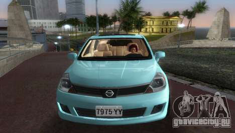 Nissan Tiida для GTA Vice City вид сзади
