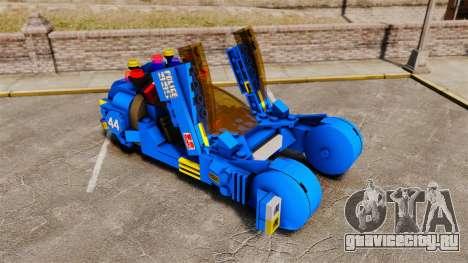 Lego Car Blade Runner Spinner [ELS] для GTA 4 вид изнутри