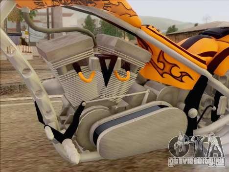 Sons Of Anarchy Chopper Motorcycle для GTA San Andreas вид сзади слева