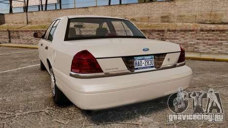 Ford Crown Victoria 1998 v1.1 для GTA 4 вид сзади слева