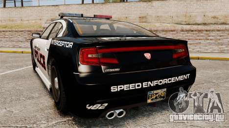 GTA V Bravado Buffalo Supercharged LCPD для GTA 4 вид сзади слева