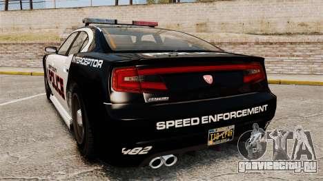 GTA V Bravado Buffalo Supercharged LCPD для GTA 4 вид сзади слева