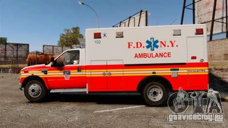 Ford F-350 FDNY Ambulance [ELS] для GTA 4 вид слева