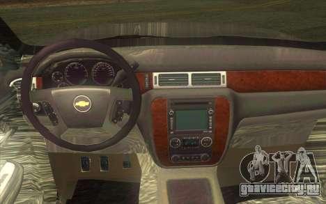 Chevrolet Cheyenne LT 2012 для GTA San Andreas вид изнутри