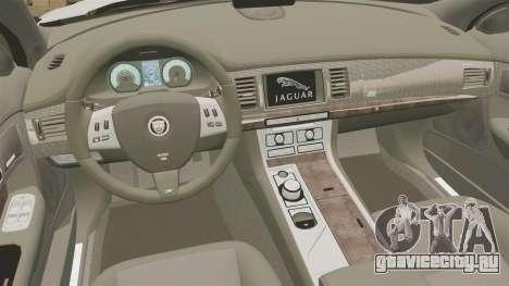 Jaguar XFR 2010 British Police [ELS] для GTA 4 вид изнутри