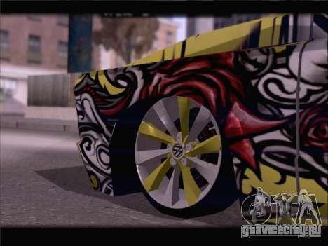 New Slamvan для GTA San Andreas вид снизу