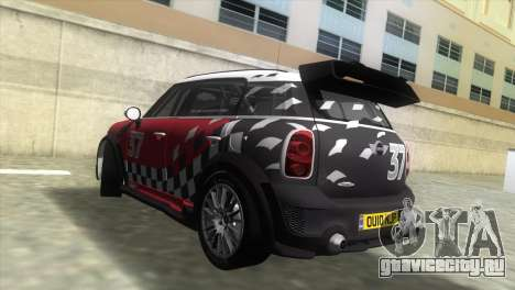 Mini Countryman WRC для GTA Vice City вид слева