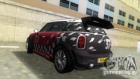 Mini Countryman WRC для GTA Vice City вид слева