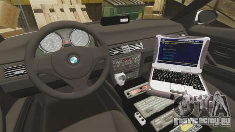 BMW 330i Metropolitan Police [ELS] для GTA 4 вид сзади