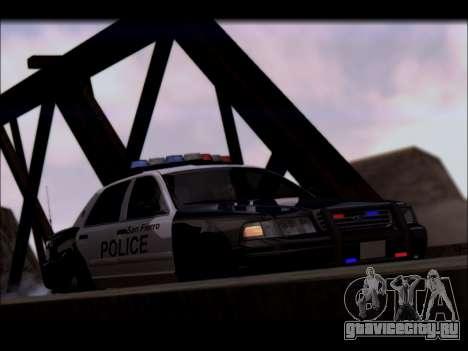 Ford Crown Victoria 2005 Police для GTA San Andreas вид изнутри