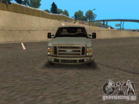 Ford F-350 для GTA San Andreas вид сзади слева