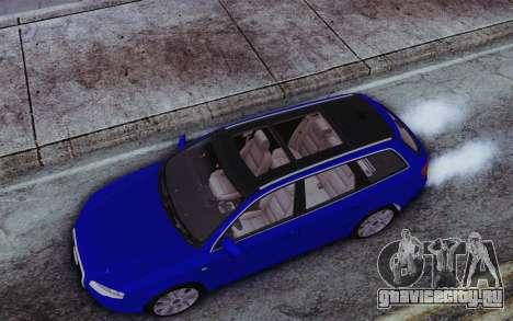 Audi A4 2005 Avant 3.2 Quattro Open Sky для GTA San Andreas вид сзади
