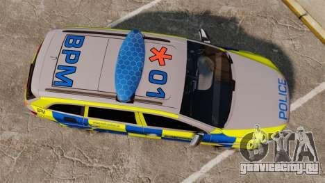 Audi Q7 Metropolitan Police [ELS] для GTA 4 вид справа