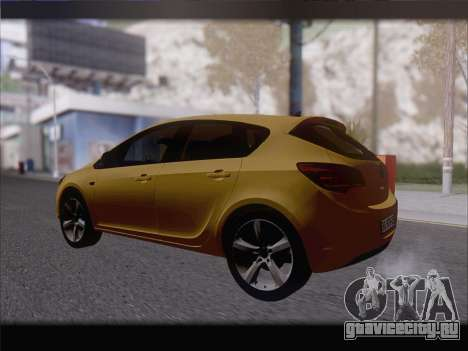 Opel Astra J 2011 для GTA San Andreas вид справа