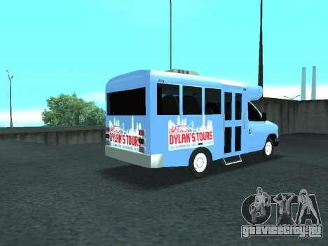 Ford Shuttle Bus для GTA San Andreas вид сзади слева