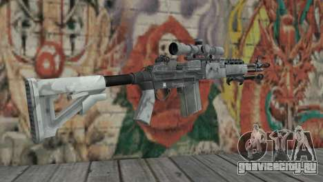 M14 EBR Арктический для GTA San Andreas второй скриншот