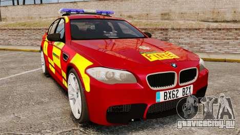 BMW M5 West Midlands Fire Service [ELS] для GTA 4