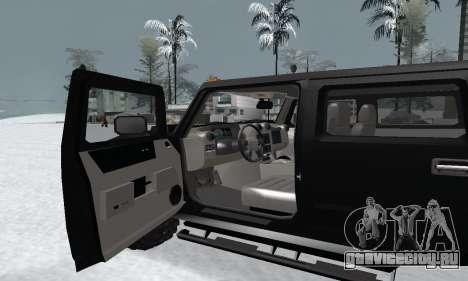 HUMMER H2 для GTA San Andreas вид справа