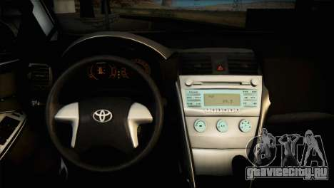 Toyota Corolla 2012 для GTA San Andreas вид изнутри