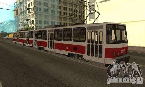 Tatra T6B5 для GTA San Andreas вид изнутри