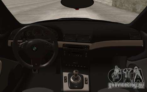 BMW M3 e46 Duocolor Edit для GTA San Andreas вид сзади