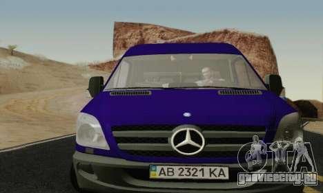 Mersedes-Benz Sprinter для GTA San Andreas вид слева