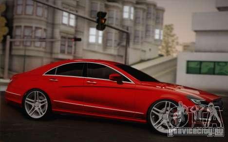 Mercedes-Benz CLS 63 AMG 2012 Fixed для GTA San Andreas вид изнутри