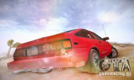 Toyota Corolla GT-S 1985 для GTA San Andreas вид сзади