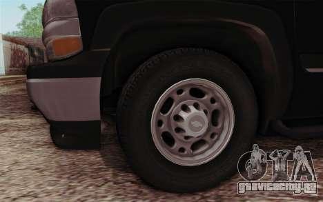 Chevrolet Suburban FBI для GTA San Andreas вид справа