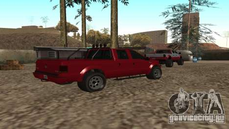 Sadler из GTA 5 для GTA San Andreas вид сзади слева