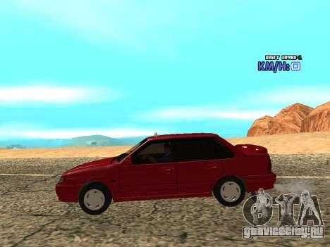ВАЗ 2115 Такси для GTA San Andreas вид слева