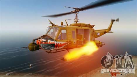 Bell UH-1 Iroquois v2.0 Gunship [EPM] для GTA 4 вид сверху