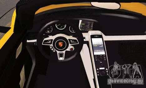 Porsche 918 Spyder 2014 для GTA San Andreas