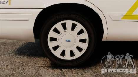 Ford Crown Victoria 2011 LCSHP [ELS] для GTA 4 вид сзади