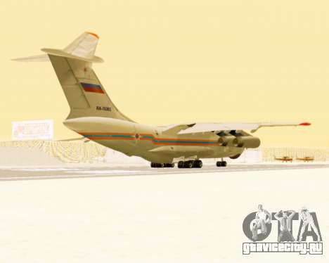 Ил-76ТД МЧС России для GTA San Andreas вид справа