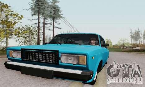 ВАЗ 2107 Купе для GTA San Andreas вид изнутри