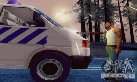 Volkswagen T4 Politie для GTA San Andreas вид сбоку