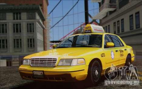 Ford Crown Victoria LA Taxi для GTA San Andreas вид справа