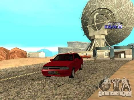 ВАЗ 2115 Такси для GTA San Andreas вид сзади